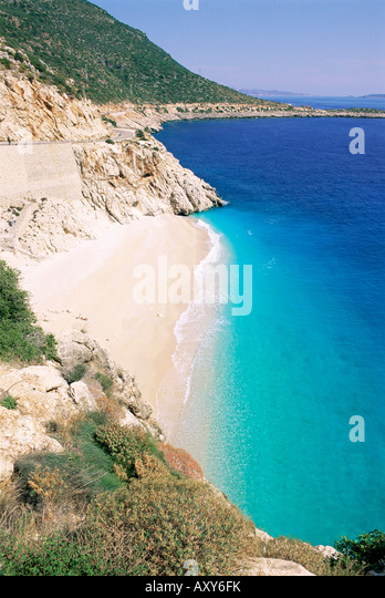 Plage de Kaputas, Lycie, Anatolie, Turquie, Asie Mineure, Asie Photo Stock