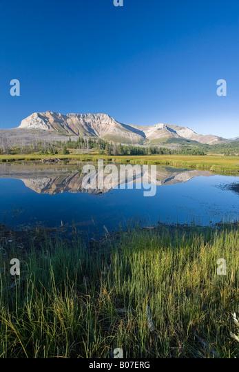 Canapé Mountain, parc national des Lacs-Waterton, Alberta, Canada Photo Stock