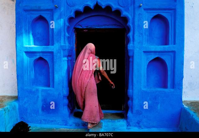 L'Inde, Rajasthan, Jodhpur, la vieille ville bleu Photo Stock