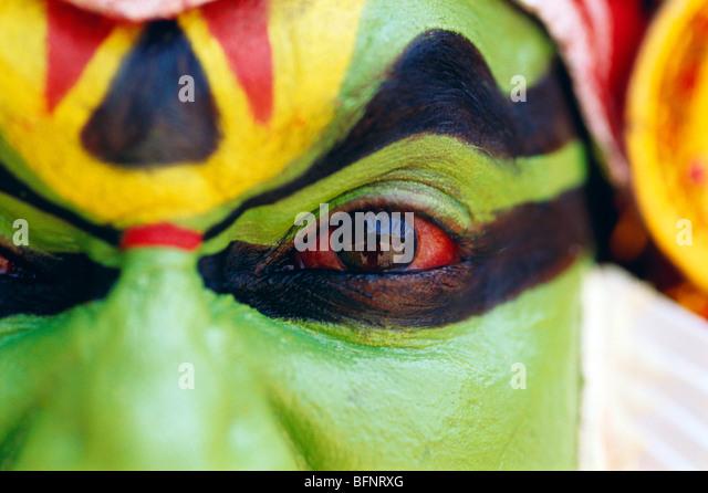 60564 RSC: danseuse de Kathakali Kerala; Inde; M.#306 Photo Stock