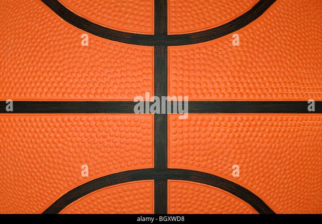 Basket-ball Close Up Photo Stock
