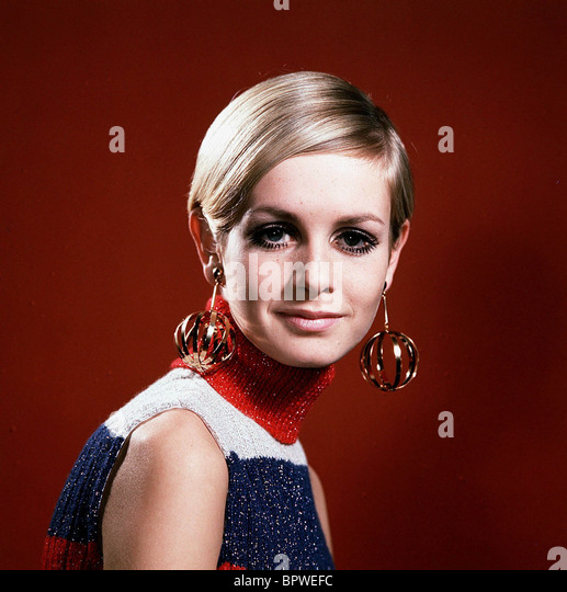 Modèle TWIGGY et actrice (1968) Photo Stock