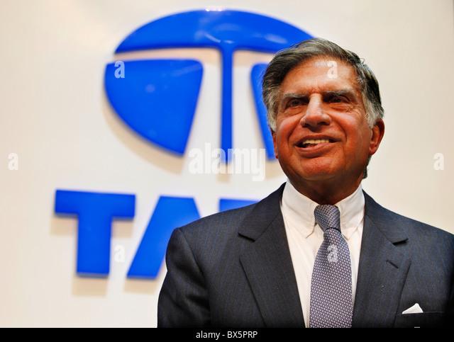 Ratan N. Tata au cours de la 79e International Motor Show de Genève, mardi 3 mars 2009. (CTK Photo/Rene Fluger) Photo Stock