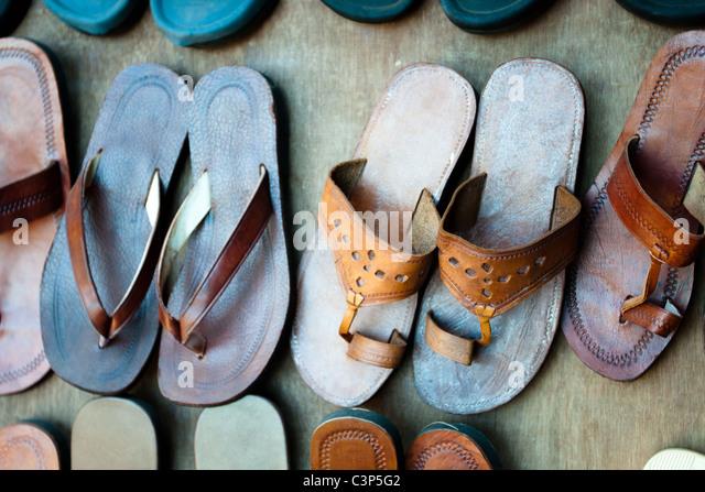 Pantoufles indiennes Photo Stock