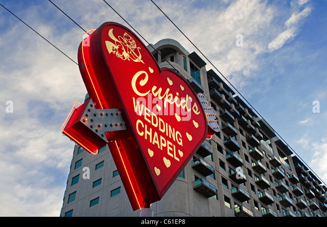 Cupids chapelle de mariage de Las Vegas NV Nevada Photo Stock
