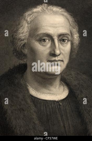 Christophe Colomb 1451-1506. Né Italien Espagnol financé explorer découvreur de l'Amérique. Photo Stock