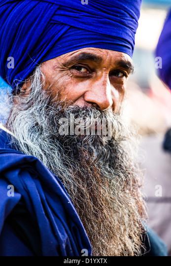 Homme sikh à Delhi, Inde Photo Stock