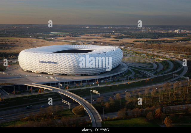 allianz arena aerial photos allianz arena aerial images alamy. Black Bedroom Furniture Sets. Home Design Ideas