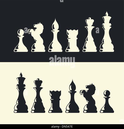 Pièces des échecs collection. Vector Photo Stock