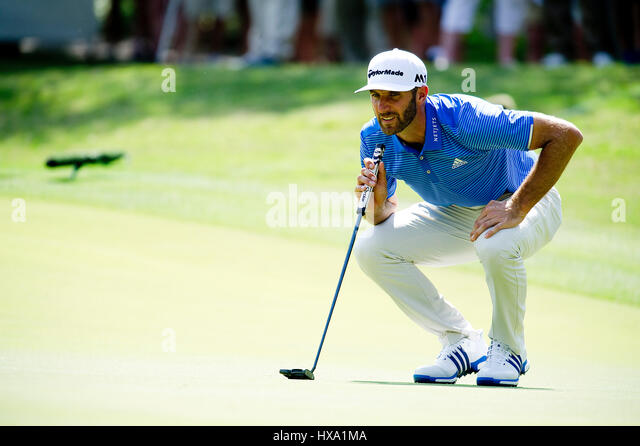 Austin, Texas, États-Unis. 26 mars 2017. Dustin Johnson en action at World Golf Championships Technologies Photo Stock