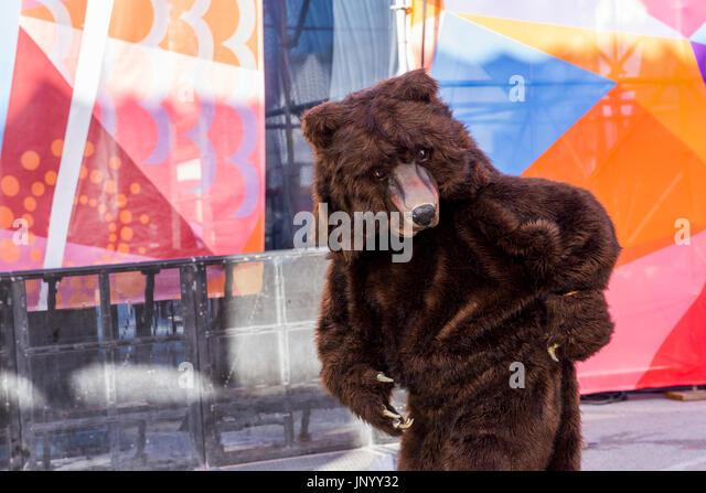 Vancouver, Canada. Juil 30, 2017. Artiste itinérant de Mortal Coil au tambour appelle Festival, Canada 150 Photo Stock