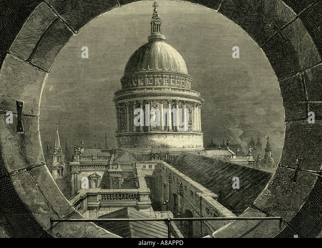 ST. Paul London, 1878 Immagini Stock
