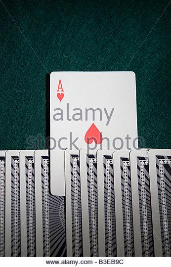 Ace in un pacchetto di schede Immagini Stock