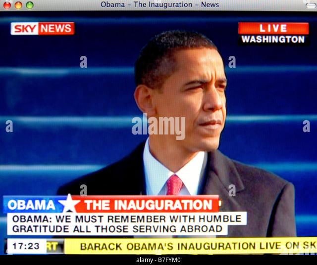 Il centro storico di inaugurazione di Barack Obama del 20 Gen 2009 Immagini Stock