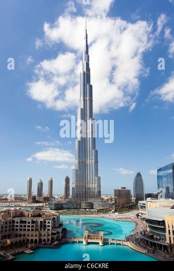 Il Burj Khalifa, completata nel 2010, l'uomo più alto struttura realizzata nel mondo, Dubai, UAE Immagini Stock