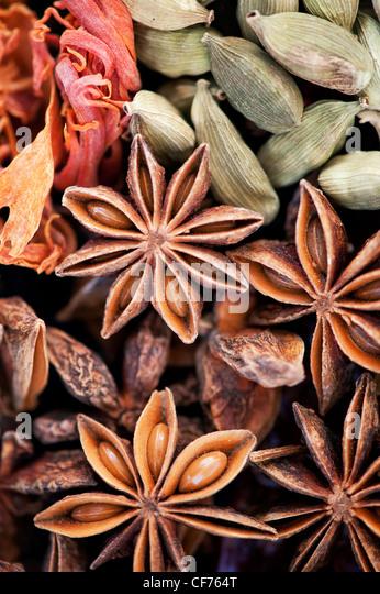 Cucina indiana spezie pattern.piatta fotografia laici dal di sopra. Immagini Stock