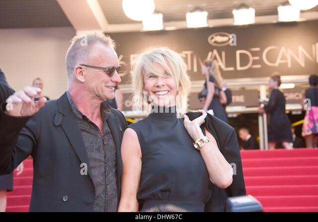 """Sting e sua moglie Trudie Styler, 'Mud"""" premiere durante il sessantacinquesimo annuale di Cannes Film Festival. Immagini Stock"""