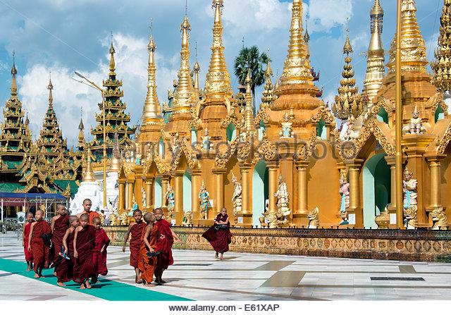 Shwedagon pagoda Yangon Myanmar (Birmania) Immagini Stock