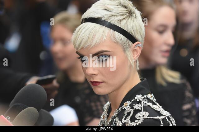 Cara Delevingne,'Valeriano' - Premiere europeo,Cineworld,Leicester Square,London.UK 24.07.17 Immagini Stock