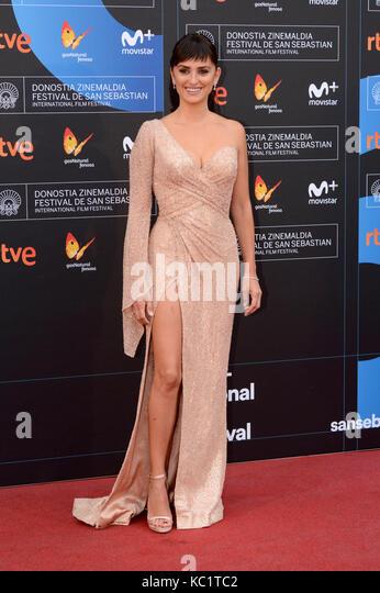 Penelope Cruz assiste il 'amante pablo' premiere durante il sessantacinquesimo sebastian international film Immagini Stock