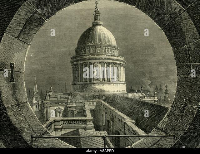 ST. Paul London, 1878 Imagens de Stock