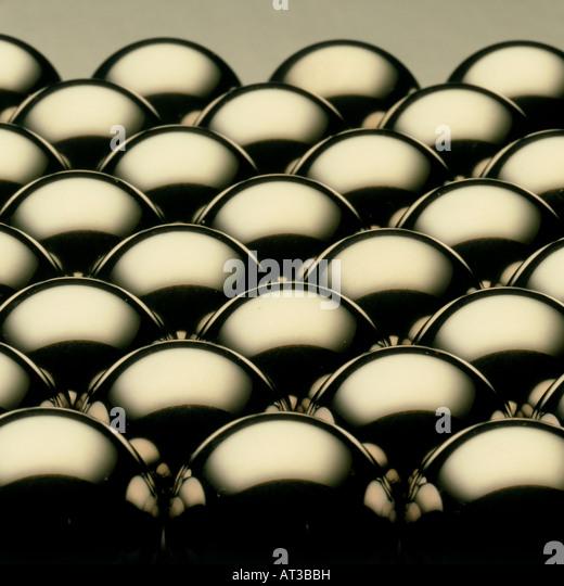 Esferas metálicas Imagens de Stock