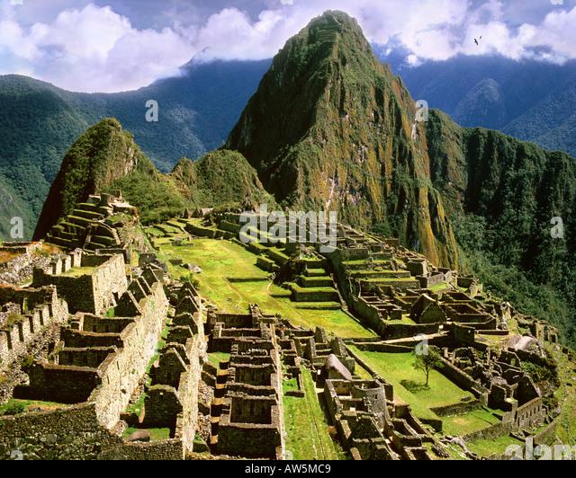 PE - CUZCO: Machu Picchu, a antiga cidade inca nos Andes Imagens de Stock