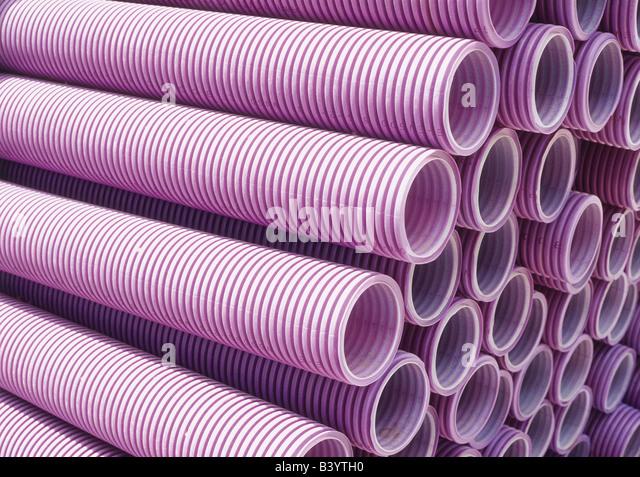 Pilha de tubos Imagens de Stock