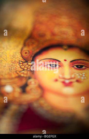 Lakshmi deusa hindu da índia sagrada. Imagens de Stock