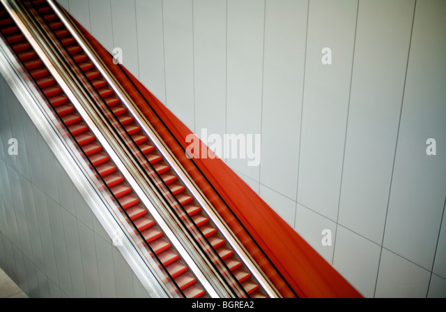 Escada rolante, Suécia. Imagens de Stock