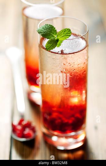 Bebida de romã Imagens de Stock