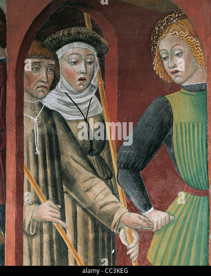 Lombaridia Louvor Igreja de San Francesco Frescos Imagens de Stock