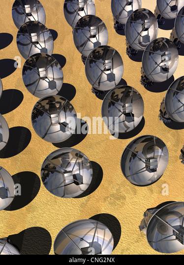 Arte de matriz de satélite Imagens de Stock