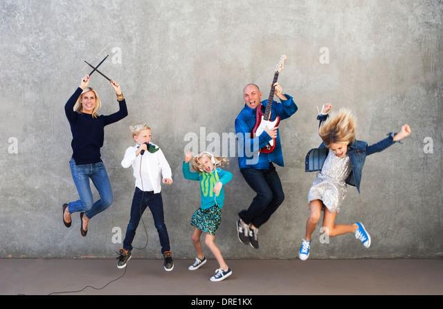 Família o rock Imagens de Stock