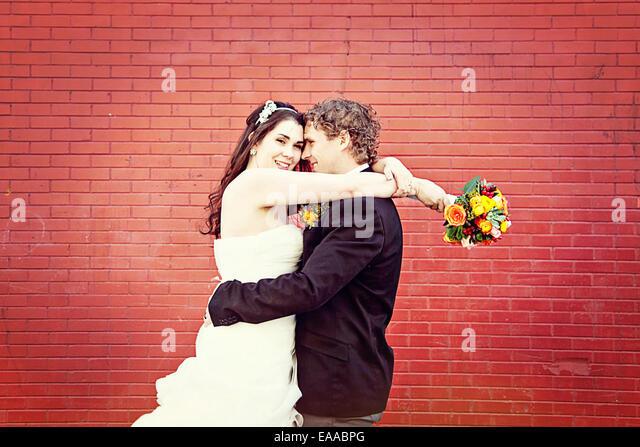 Casamento Casal em não há dia de casamento - Noivos Imagens de Stock